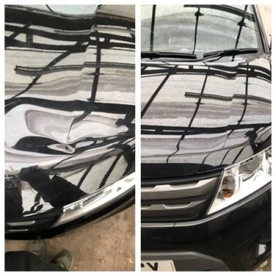 Hood dent removal